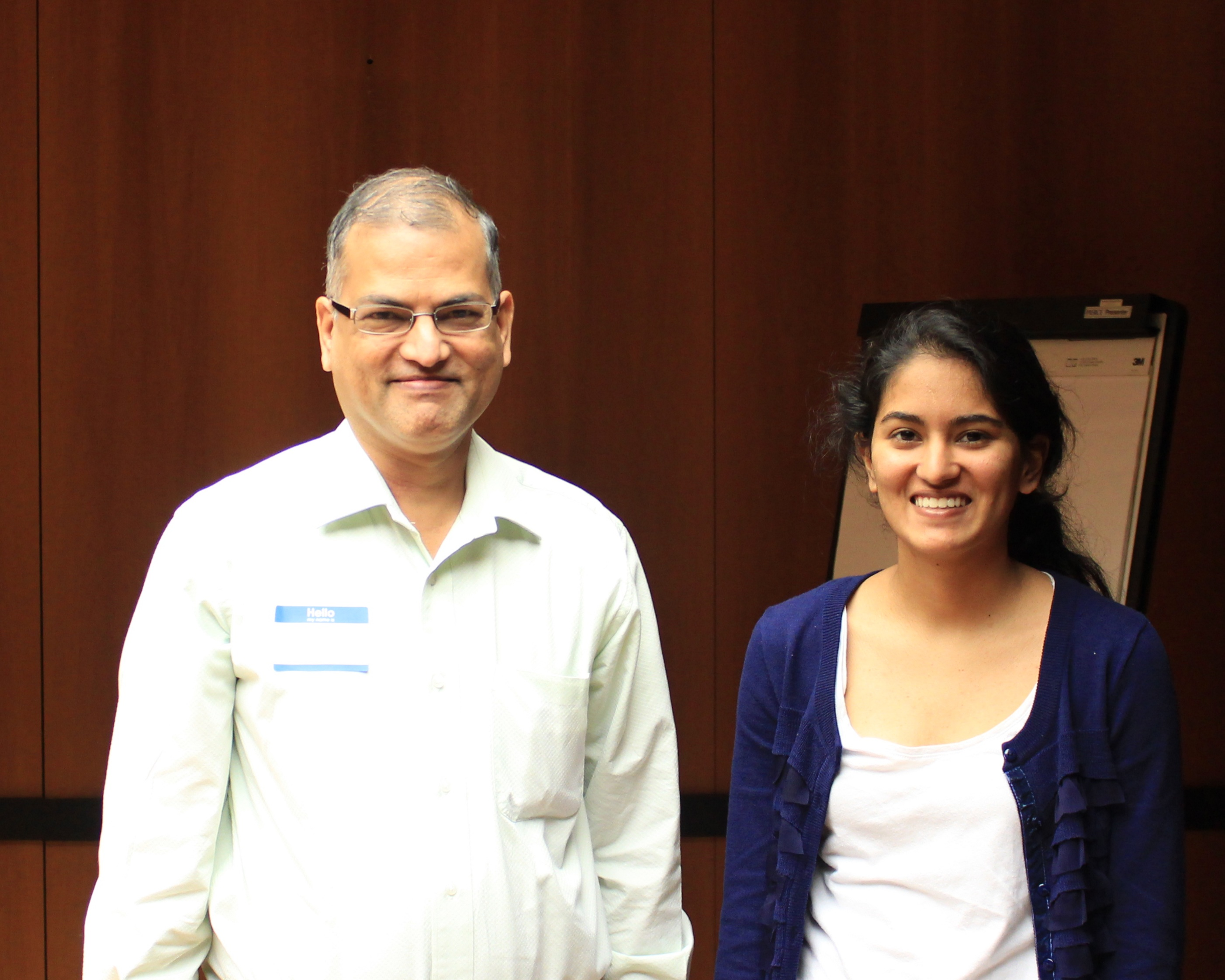 Dr. Srini Dharmapuri (Michael Baker Jr.) with his daughter, Sneha Srinivasan.